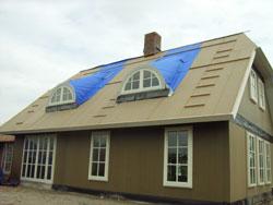 detail constructie riet dakkapel binnenkant